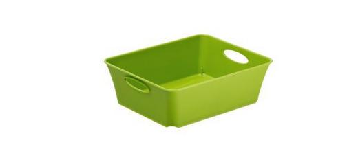 BOX Kunststoff Grün - Grün, Basics, Kunststoff (18.6/15.1/6cm)