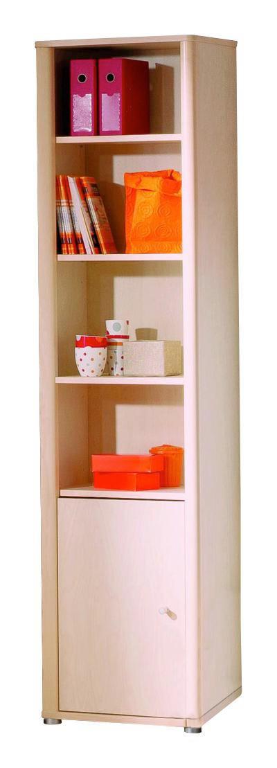 REGAL Birke furniert Birkefarben - Birkefarben/Silberfarben, Design, Holz/Kunststoff (52,1/204,2/34,9cm) - Paidi