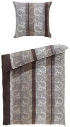 BETTWÄSCHE Mikrofaser Grau 135/200 cm - Grau, KONVENTIONELL, Textil (135/200cm) - Boxxx