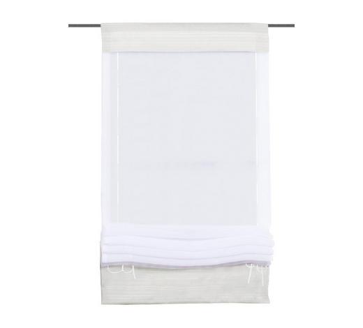 BÄNDCHENROLLO  - Weiß, KONVENTIONELL, Textil (70/140cm)