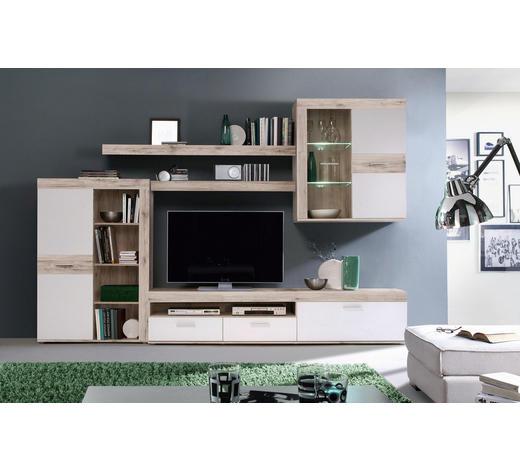 DNEVNI REGAL,  hrast, peščena - aluminij/siva, Design, kovina/umetna masa (300/200,9/41/38,8cm) - Cantus