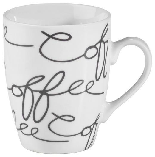 KAFFEEBECHER 250 ml - Weiß/Grau, Trend, Keramik (0,250l) - Ritzenhoff Breker