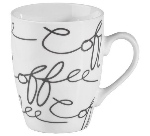 KAFFEEBECHER 250 ml ml - Weiß/Grau, Trend, Keramik (0,250l) - Ritzenhoff Breker