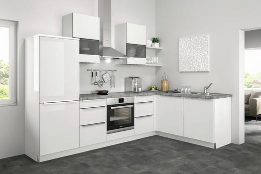 Eckküche ohne E-Geräte - Weiß, Design (285/185cm) - Set one by Musterrin