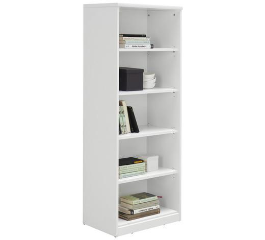 REGÁL, bílá - bílá/černá, Konvenční, kompozitní dřevo (55/148/36cm) - Xora