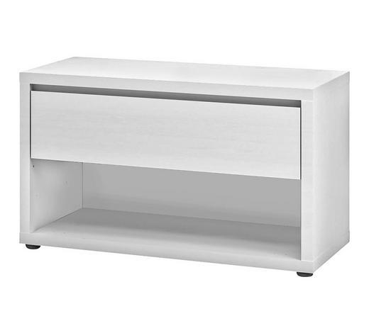GARDEROBENBANK Weiß  - Weiß, Design (84/49,4/42cm) - Xora