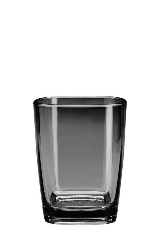 ZAHNPUTZBECHER Glas - Schwarz, Basics, Glas (7,3/9cm) - Kleine Wolke