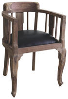 KŘESLO, barvy sheesham, černá, dřevo, textil - černá/barvy sheesham, Trend, dřevo/textil (52/76/46cm) - AMBIA HOME