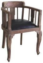 Sessel in Schwarz, Sheeshamfarben Holz, Textil - Sheeshamfarben/Schwarz, Trend, Holz/Textil (52/76/46cm) - Ambia Home