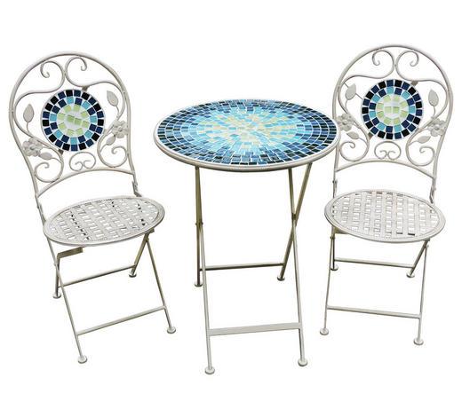 SET ZA BALKON - modra/bela, Trendi, kovina/steklo (60/41/76/94/60/45cm) - Ambia Garden