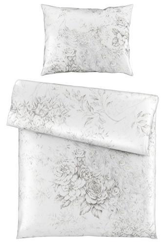 BETTWÄSCHE 140/200 cm - Weiß/Grau, Natur, Textil (140/200cm) - Novel