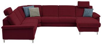 WOHNLANDSCHAFT in Textil Rot  - Rot/Alufarben, Design, Textil/Metall (265/333/170cm) - Dieter Knoll