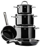 SET POSOD 5/1 PASSION BLACK - črna/prosojna, Konvencionalno, kovina/steklo - Silit