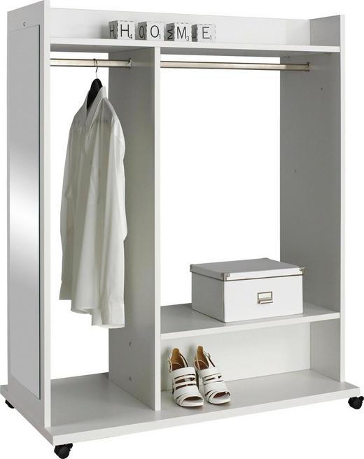 GARDEROBE Weiß - Weiß, Design, Glas (120/150/60cm) - CARRYHOME