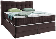 Boxspringbett Domino ca.200/200cm, Braun - Braun, KONVENTIONELL, Holz (200/200cm) - James Wood