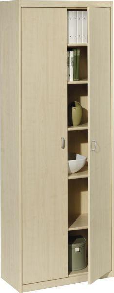 MEHRZWECKSCHRANK in Ahornfarben - Silberfarben/Ahornfarben, KONVENTIONELL, Holzwerkstoff/Kunststoff (72/194/36cm) - CS SCHMAL