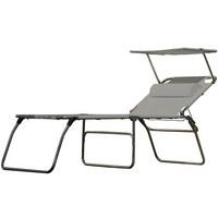 DREIBEINLIEGE Aluminium Grau, Alufarben  - Alufarben/Grau, Basics, Textil/Metall (74/50/207cm) - Jan Kurtz