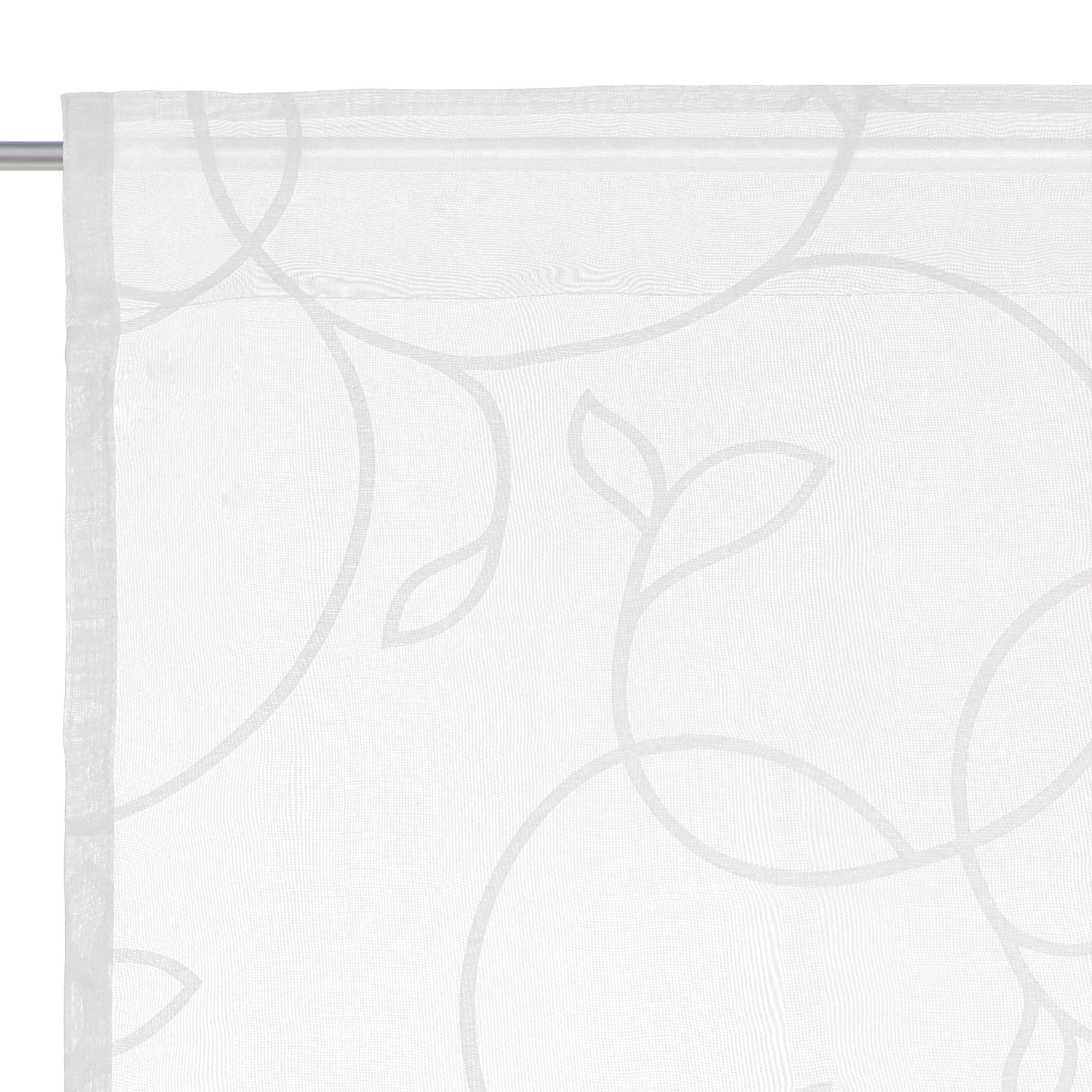 FERTIGVORHANG halbtransparent - Weiß, Design, Textil (140/245cm) - ESPOSA
