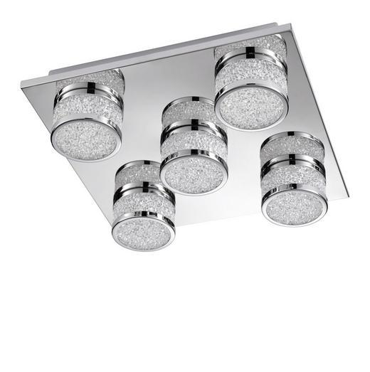 LED STROPNÍ SVÍTIDLO - barvy chromu, Design, kov/umělá hmota (32/9/32cm)