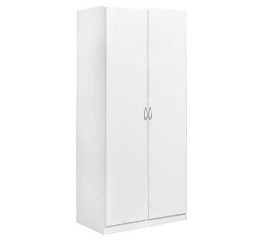 DREHTÜRENSCHRANK in Weiß - Silberfarben/Weiß, Design, Holzwerkstoff/Kunststoff (91/197/54cm) - Boxxx