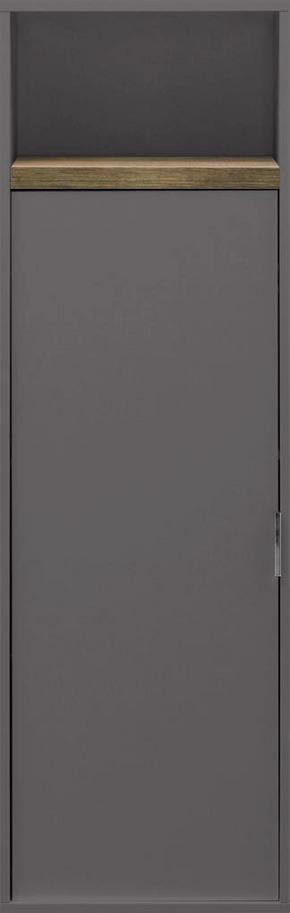 VÄGGHÄNGD MODUL - kromfärg/grafitfärgad, Design, metall/träbaserade material (45/141/29cm) - Cs Schmal