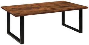 ESSTISCH in Holz, Metall 200/100/76 cm - Schwarz/Akaziefarben, Natur, Holz/Metall (200/100/76cm) - Linea Natura