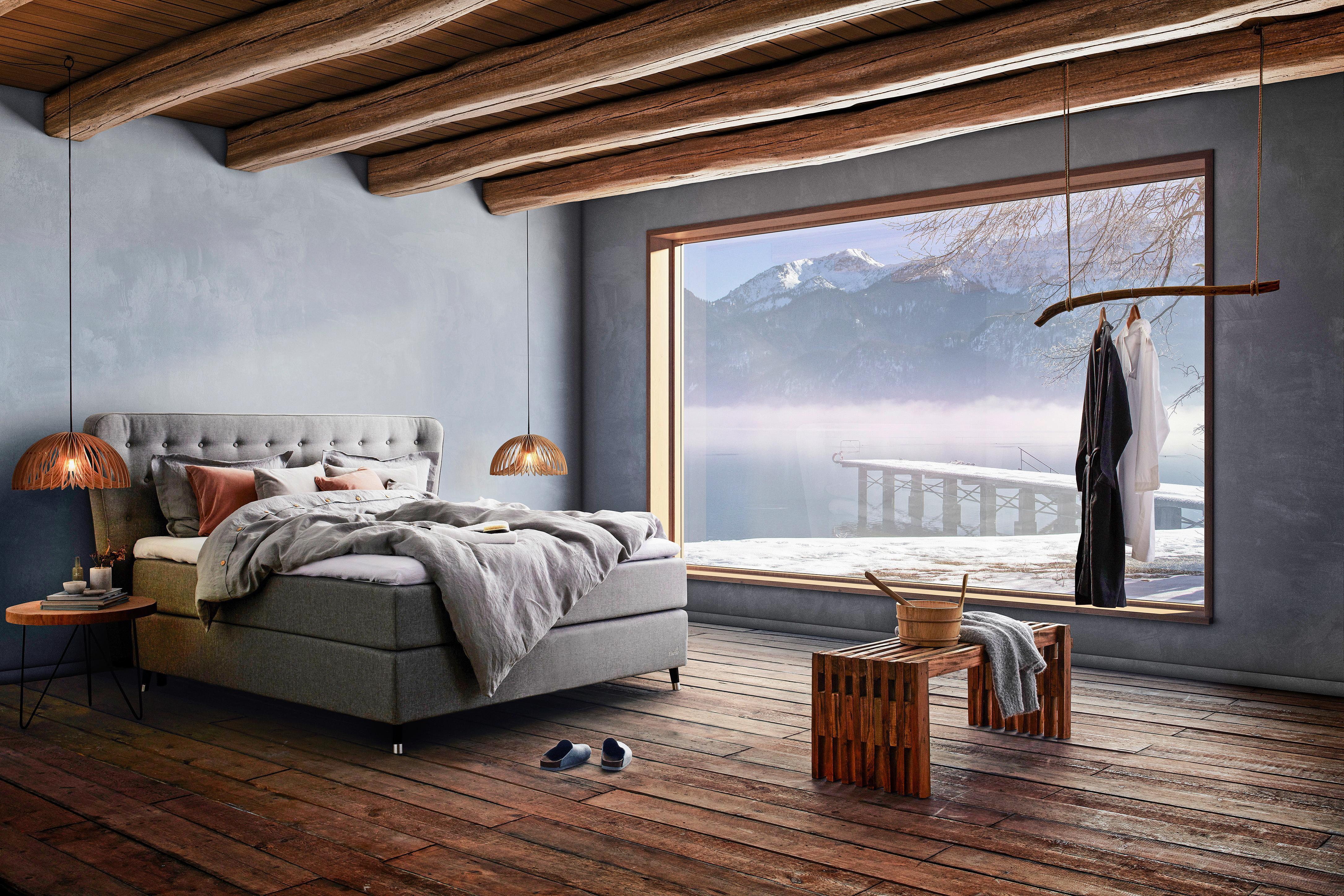 EKENS ELEGANS KONTINENTAL - grå, Klassisk, metall/trä (180/200cm) - Ekens