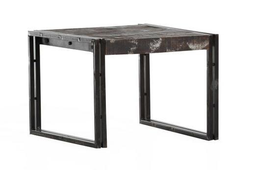 KLUB STOLIĆ - smeđa, Design, metal/drvo (60/60/45cm) - Ambia Home