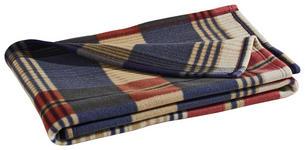 WOHNDECKE 130/160 cm Aubergine, Blau - Blau/Aubergine, KONVENTIONELL, Textil (130/160cm) - Esposa