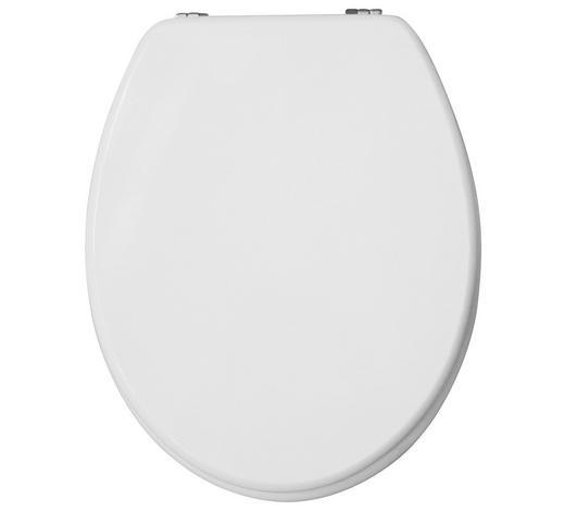 WC-SITZ - Weiß, Basics, Holzwerkstoff (35,8/5,8/44cm) - Sadena