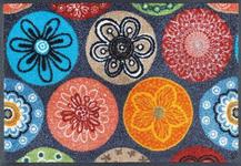 FUßMATTE 50/75 cm Blume Multicolor  - Multicolor, Basics, Kunststoff/Textil (50/75cm) - Esposa