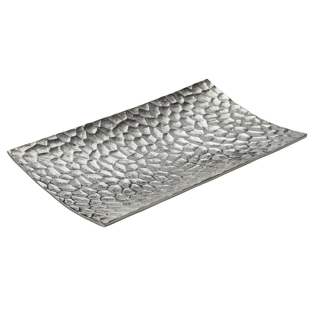 Image of Ambia Home Dekoschale , Me-9045 , Nickelfarben , Metall , Uni , 22x4 cm , vernickelt , handgemacht , 0040030028
