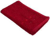 GÄSTETUCH 30/50 cm Rot  - Rot, KONVENTIONELL, Textil (30/50cm) - Esposa
