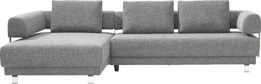 WOHNLANDSCHAFT Flachgewebe - Chromfarben/Grau, Design, Textil/Metall (208/300cm) - EWALD SCHILLIG BRAND