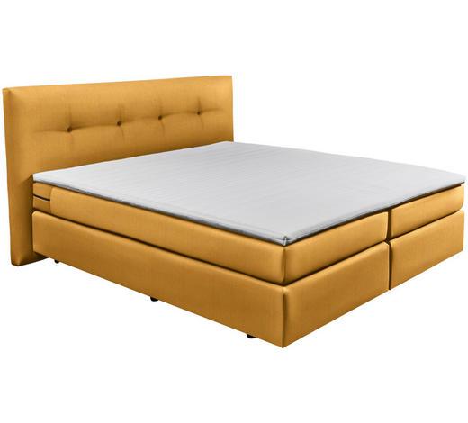 BOXSPRINGBETT 180/200 cm  in Gelb - Gelb/Schwarz, Design, Kunststoff/Textil (180/200cm) - Carryhome