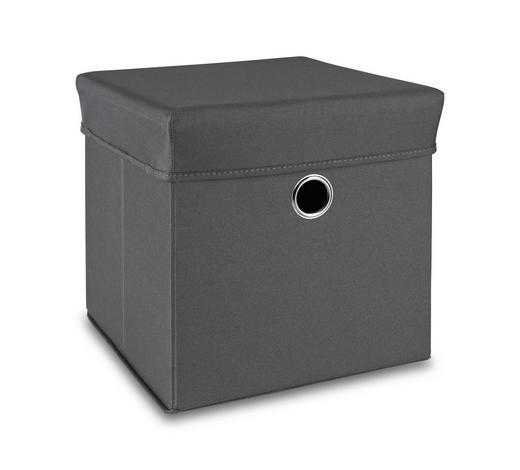 BOX NA HRAČKY - šedá, Trend, dřevo/textilie (32/32/32cm) - My Baby Lou