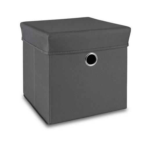 SPIELZEUGBOX - Grau, Basics, Holz/Kunststoff (32/32/32cm) - My Baby Lou