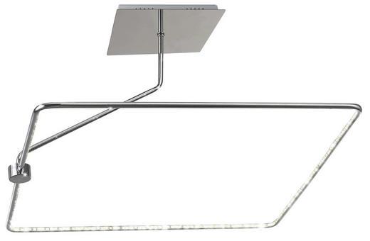 LED-DECKENLEUCHTE - Chromfarben, LIFESTYLE, Kunststoff/Metall (55/55/31cm)