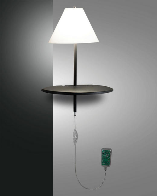 LED-WANDLEUCHTE - Anthrazit, MODERN, Glas/Metall (30/25/47cm)