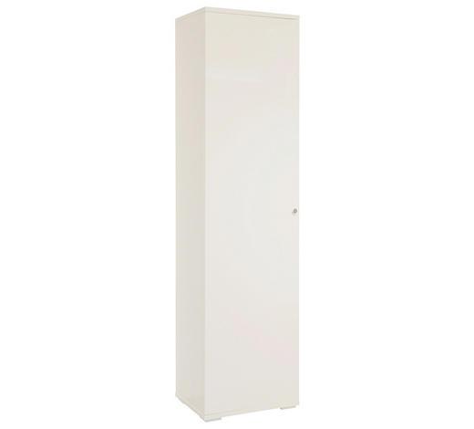 SCHUHSCHRANK 50/197/37 cm  - Chromfarben/Weiß, Design, Holzwerkstoff/Metall (50/197/37cm) - Xora