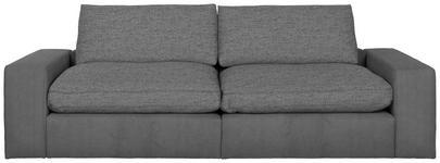 MEGASOFA in Textil Grau - Schwarz/Grau, Design, Kunststoff/Textil (266/84/123cm) - Hom`in
