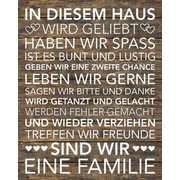 Textmotive KEILRAHMENBILD - Braun/Weiß, KONVENTIONELL, Holz/Textil (40/50/2,0cm) - EUROGRAPHICS