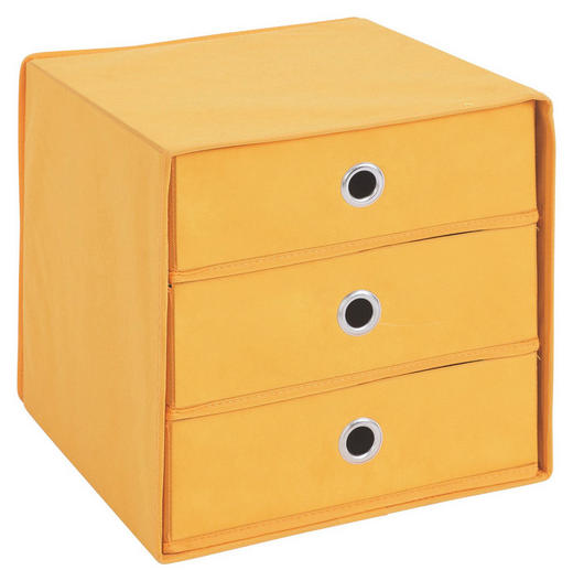 BOX Karton, Textil Orange - Orange, Design, Karton/Textil (31,5/32/31,5cm) - Carryhome