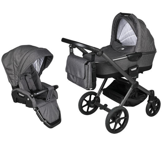 Future  Kinderwagenset Future  Anthrazit  - Anthrazit/Grau, Design, Kunststoff/Textil (57/104/79cm) - Jimmylee