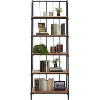 REGÁL - šedá/hnědá, Trend, kov/dřevo (70/190/38cm) - Ambia Home