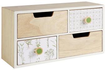 DEKORATIONSASK - vit/naturfärgad, Trend, träbaserade material (30/16,5/12,8cm) - Ambia Home