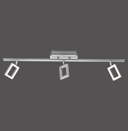 LED-DECKENLEUCHTE - Chromfarben/Weiß, Design, Kunststoff/Metall (73,5/7,5/19cm) - Novel