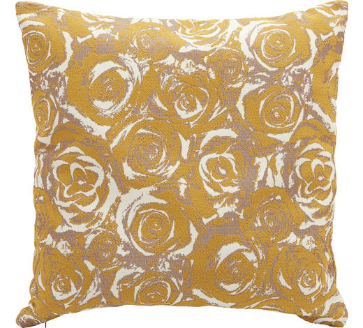 ZIERKISSEN 45/45 cm - Gelb, Design, Textil (45/45cm)