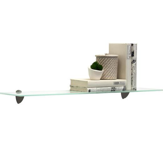 SKLENĚNÁ ODKLÁDACÍ PLOCHA - bílá, Konvenční, sklo (78/0,6/18cm) - Boxxx