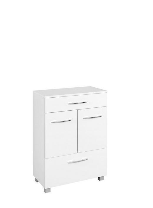 UNTERSCHRANK Weiß - Chromfarben/Silberfarben, Design, Holzwerkstoff/Kunststoff (60/84/35cm) - Carryhome